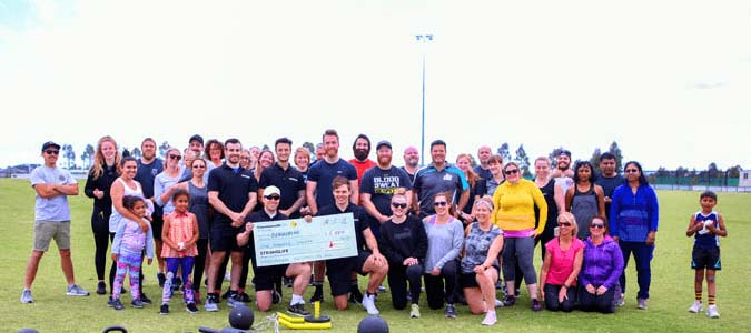 Stronglife raised $6200 for Beyond Blue by running a special boot camp